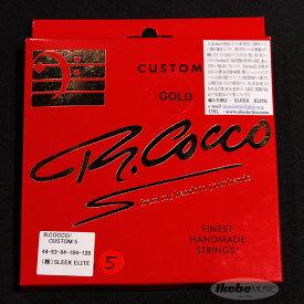 R.Cocco Finest Handmade Bass Strings 5弦用 (Custom 5/ゴールド弦/44-128)