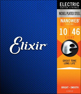 ELIXIR 《エリクサー》Electric Guitar Strings Nanoweb(Light) [エレキギター弦] #12052 【10-46】