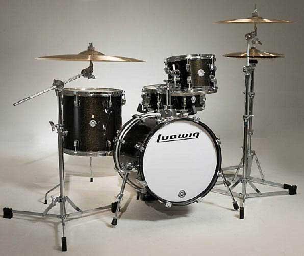 """Ludwig 《ラディック》 LC179X016 [BREAKBEATS OUT FIT / AHIMIR """"?UESTLOVE"""" THOMPSON Collaboration (Black Gold Sparkle)]"""