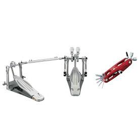 """【数量限定特価】TAMA《タマ》 HP910LWN [Rolling Glide LiteSprocket Twin Pedal]【MULTI TOOL Special RED ver. """"TMT9R"""" プレゼントキャンペーン!】【あす楽対応】"""
