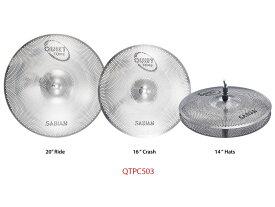 "Sabian 《セイビアン》 SAB-QTPC503 [QUIETTONE Cymbal Practice Kit (14"" Hats / 16"" Crash / 20"" Ride)]"