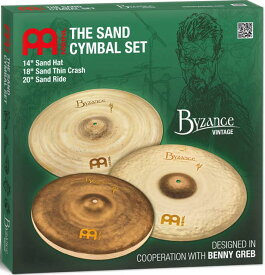 "【MEINLシンバルキャンペーン2020】MEINL 《マイネル》 BV-141820SA [Byzance Vintage / Sand Cymbal Set] 【14""Hihat / 18""Crash / 20""Ride】【お取り寄せ品】"