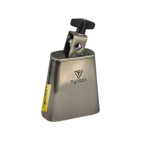 TYCOON PERCUSSION《タイクーンパーカッション》TWC-BC [Brushed Chrome Mountable Cowbell / Cha Cha Bell]【お取り寄せ品】