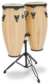 """LP 《エルピー/ラテンパーカッション》 LP646NY-AW [City Wood Quinto(10"""") & Conga(11"""") with Stand / Natural] 【展示処分につき大特価!】"""