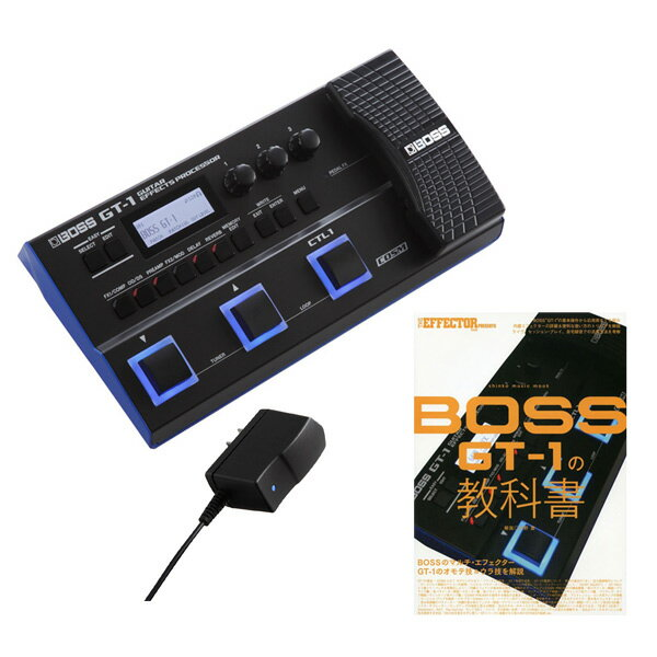 BOSS 《ボス》GT-1 + PSA-100S2 + シンコー・ミュージック・ムック 「THE EFFECTOR BOOK PRESENTS BOSS GT-1の教科書」 【あす楽対応】【送料無料!】【oskpu】【BOSS Effects Winter Campaign】 数量限定スリーブケース・プレゼント!