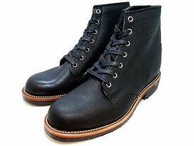 """チペワ ブーツ 6インチ サービスブーツ マットブラック CHIPPEWA 1901M24 6"""" Service Boots Mat Black MADE IN USA"""