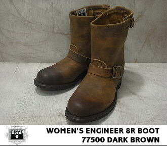 飞 /FRYE 工程师 8R 靴子 /ENGINEER 8R 启动暗棕色 /DARK 棕色 77,500