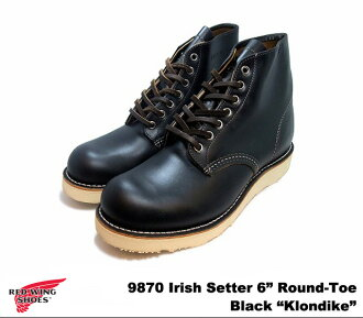 "Red Wing 9870 RED WING #9870 Irish setter black クローンダイク Irish Setter BLACK ""KLONDIKE"" dog tag planet"