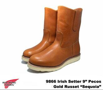 """红翼 9866 红翼 #9866 爱尔兰二传手 Pecos 靴子尔达设置红杉爱尔兰二传手金褐色的""""红杉""""狗标签"""