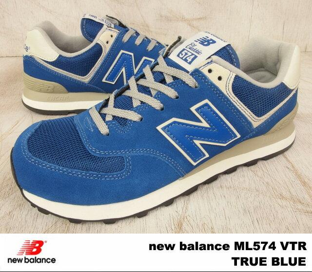 ニューバランス 574 トゥルーブルー new balance ML574 VTR newbalance ML574VTR TRUE BLUE メンズ レディース スニーカー