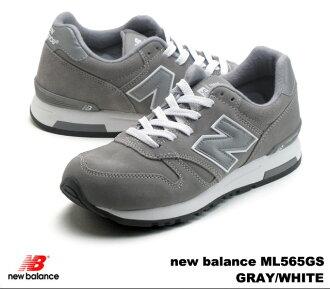 新平衡 565 灰色白色新平衡 ML565 GS newbalance ML565GS 灰色/白色男装运动鞋