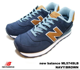 New balance 574 Navy Brown new balance ML574SLB newbalance ML574 SLB NAVY/BROWN men's sneakers