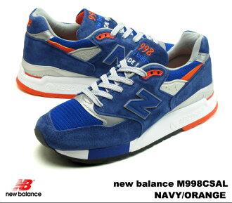 新平衡 998 海军橙色新平衡 M998 CSAL newbalance M998CSAL 海军/橙色男士运动鞋