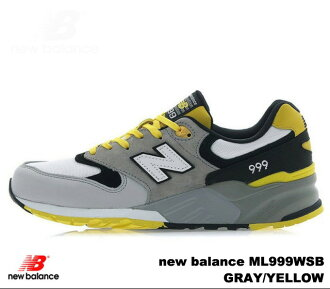 nouveau produit 35ac1 f55a0 New Balance 999 gray yellow new balance ML999 WSB newbalance ML999WSB GRAY  YELLOW men sneakers