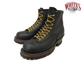 【エントリーでポイント最大44倍】 ホワイツ スモークジャンパー ホワイツブーツ ブラック メンズ ブーツ ワークブーツ White's Boots Smoke Jumper 350MVLTTRT Black vibram #100