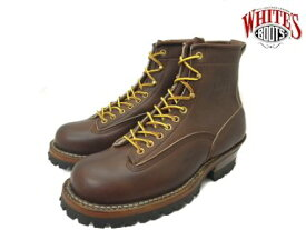 ホワイツ スモークジャンパー ホワイツブーツ ブラウン メンズ ブーツ ワークブーツ White's Boots Smoke Jumper 350MVLTTRT Brown vibram #100