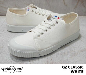風衣G2古典W帆布低切SPRING COURT G2 CLASSIC W-CANVAS LOW CUT白/WHITE 11096230女士