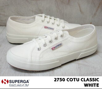 古典的拼寫蛾2750大衣SUPERGA 2750 COTU-CLASSIC白/WHITE(901)