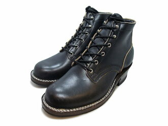 """罗伯特 · 黑铬 Excel 男士靴子的尼克斯靴子刻痕,刻痕,靴子 5""""罗伯特 Horween 黑色 Chromexcel Vibram 尼克的"""