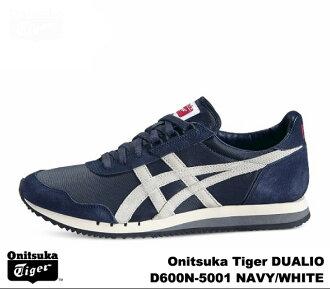 Onitsuka Tiger dually o Navy white Onitsuka Tiger DUALIO D 600N-5001 NAVY WHITE mens Womens sneakers