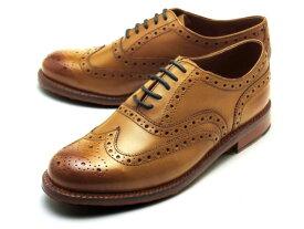 グレンソン 靴 スタンレー ウィングチップ タン カーフレザー メンズ シューズ GRENSON STANLEY 110002 TAN CALF LEATHER