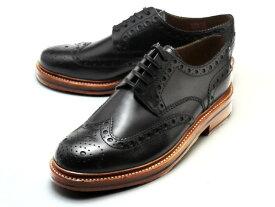グレンソン 靴 アーチー ウィングチップ ブラック カーフレザー メンズ シューズ GRENSON ARCHIE 110004 BLACK CALF LEATHER