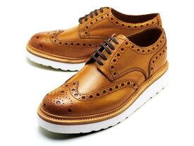 グレンソン 靴 アーチー V ウィングチップ タン カーフレザー メンズ シューズ GRENSON ARCHIE V 110007 TAN CALF LEATHER