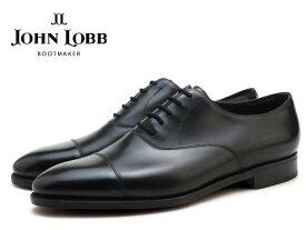 ジョンロブ シティ2 ブラック キャップトゥ オックスフォード シューズ シングルレザーソール イギリス製 メンズ ビジネス ドレス JOHN LOBB CITY2 BLACK CAP TOE OXFORD SHOES MADE IN ENGLAND