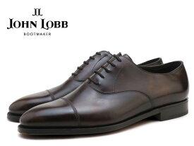 ジョンロブ シティ2 ダークブラウン キャップトゥ オックスフォード シューズ シングルレザーソール イギリス製 メンズ ビジネス ドレス JOHN LOBB CITY2 DARK BROWN CAP TOE OXFORD SHOES MADE IN ENGLAND