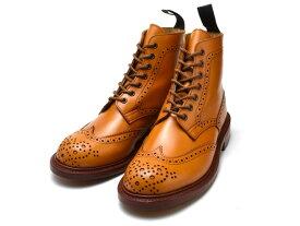 トリッカーズ カントリーブーツ レディース ウィングチップ エイコンアンティーク ダブルレザーソール Tricker's Stephy L5676 Ladies Acorn Antique Brogue Double Leather Sole