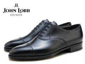 ジョンロブ フィリップ2 ブラック キャップトゥ オックスフォード シューズ プレステージソール イギリス製 メンズ ビジネス ドレス JOHN LOBB PHILIP2 BLACK CAP TOE OXFORD SHOES MADE IN ENGLAND