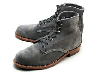 Wolverine 1,000 mile boot grey suede mens boots Wolverine WOLVERINE 1,000 MILE BOOT W40193 Grey Suede MADE IN USA