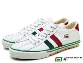 マカロニアン メンズ レディース スニーカー ホワイト/グリーン/レッド ホワイト/レッド/ブルー ホワイト maccheronian 2215L WHITE/GREEN/RED WHITE/RED/BLUE WHITE