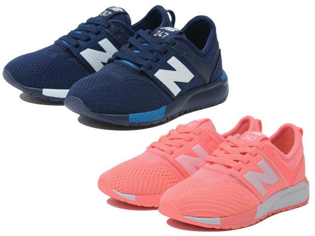 ニューバランス キッズ ジュニア 247 ネイビー/ホワイト ピンク/ホワイト 子供靴 スニーカー new balance KA247 new balance KA247C2P KA247C7P NAVY/WHITE PINK/WHITE C2P C7P
