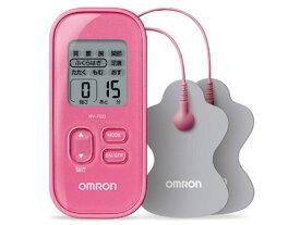 オムロン 低周波治療器 ピンク HV-F021-PK 簡単操作 パッド水洗いOK コンパクト