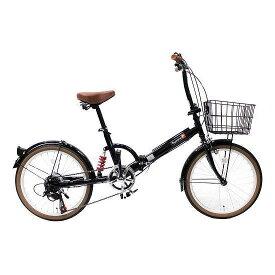 【送料無料】TOP ONE FS206LL-37-BK ブラック [折りたたみ自転車(20インチ・6段変速)] 【同梱配送不可】【代引き・後払い決済不可】【沖縄・北海道・離島配送不可】