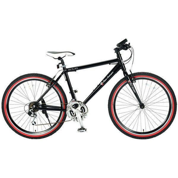 【送料無料】ランボルギーニ TL-972-BK ブラック [クロスバイク(26インチ・18段変速)]【同梱配送不可】【代引き不可】【本州以外の配送不可】