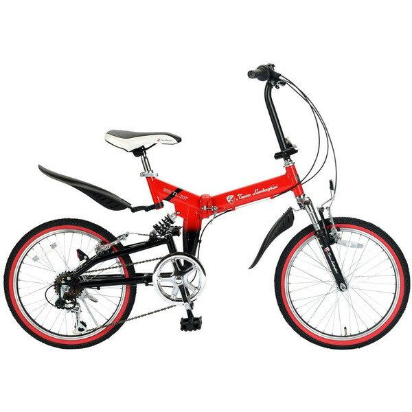 【送料無料】ランボルギーニ TL-207-RD レッド [折りたたみ自転車(20インチ・6段変速)]【同梱配送不可】【代引き不可】【本州以外の配送不可】