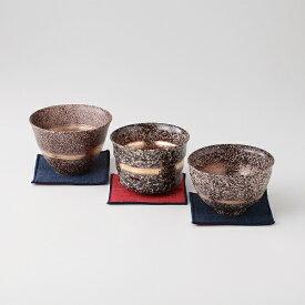 西日本陶器 TC09-05輪華 布コースター付トリオ一服碗揃 メーカー直送