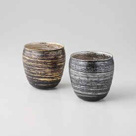 西日本陶器 TC06-05金銀刷毛 ペア焼酎カップ メーカー直送