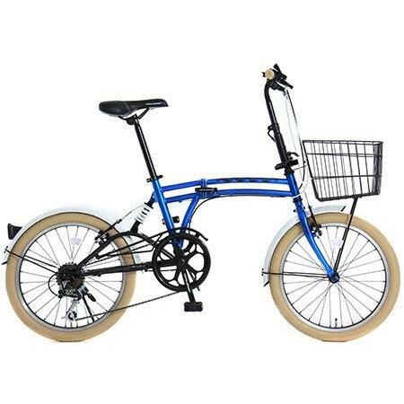 【送料無料】DOPPELGANGER DOPPELGANGER M6 BLUE [折りたたみ自転車 (20インチ・7段変速)]【同梱配送不可】【代引き不可】【沖縄・北海道・離島配送不可】