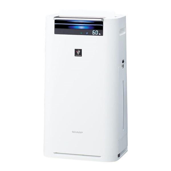 【送料無料】SHARP(シャープ) KI-GS50-W ホワイト系 [加湿空気清浄機 (空気清浄〜23畳/加湿〜15畳まで)]加湿/除電/節電/高濃度プラズマクラスター25000/花粉/脱臭/ウイルス/ホコリ/パワフル吸塵/PM2.5対応/スリム