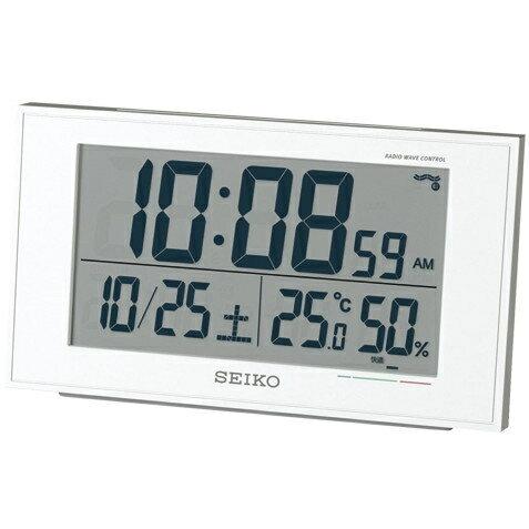 SEIKO 1318-SQ758W 電波目覚まし時計