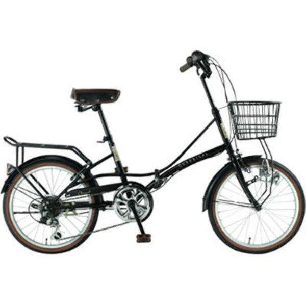 【送料無料】TOP ONE YBC206-68-BK ブラック [折りたたみ自転車(20インチ・シマノ外装6段変速 )]【同梱配送不可】【代引き不可】【沖縄・北海道・離島配送不可】