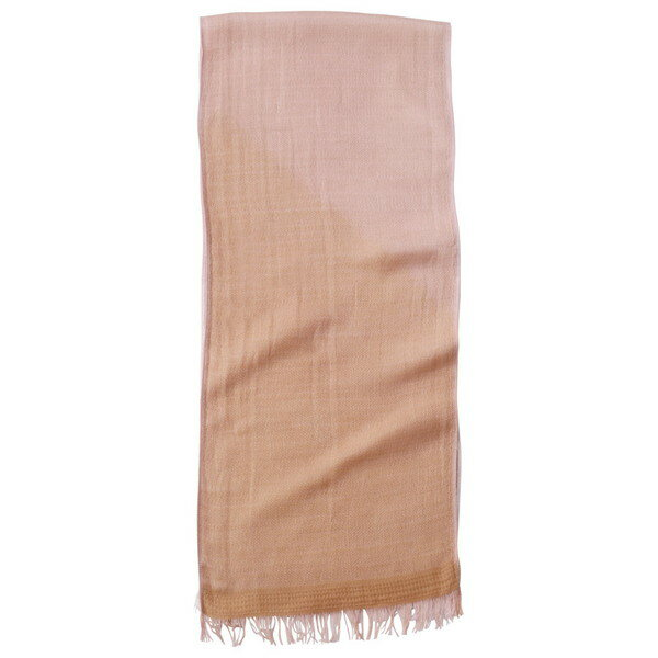 02403597 KSU02560H 〈天然草木染〉 ささら織ウールコットンマフラー ピンク(すおう)