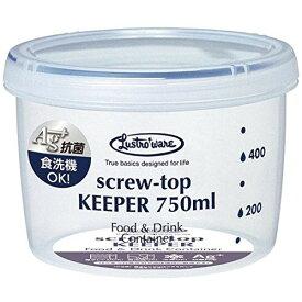 岩崎工業 保存容器 スクリュートップキーパー 750mL 浅型 抗菌 B-2272KN