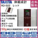 【送料無料】タニタ 体重計 RD-502-RD レッド インナースキャンデュアル [デュアルタイプ体組成計] RD502 体組成計 体…
