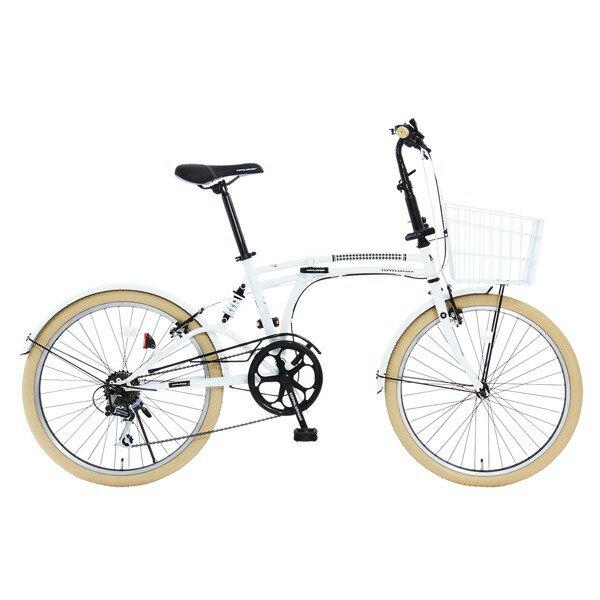 【送料無料】DOPPELGANGER m6-24-WH ホワイト Mobility Six(モビリティシックス) [24インチ折りたたみ自転車]【同梱配送不可】【代引き不可】【沖縄・北海道・離島配送不可】
