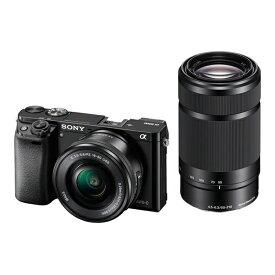SONY α6000 ILCE-6000Y ダブルズームレンズキット ブラック [デジタル一眼カメラ(2430万画素)]