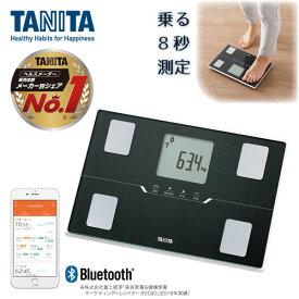 TANITA タニタ BC-768-BK メタリックブラック 黒 体組成計 薄型 軽い 軽量 スマホ 連動 アプリ 管理 bluetooth 健康管理 すぐに測れる 早い 機能 充実 体重 体脂肪率 文字が大きい 見やすい 測定結果 比較できる